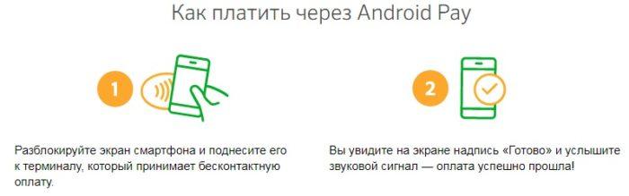 Как платить через Android Pay