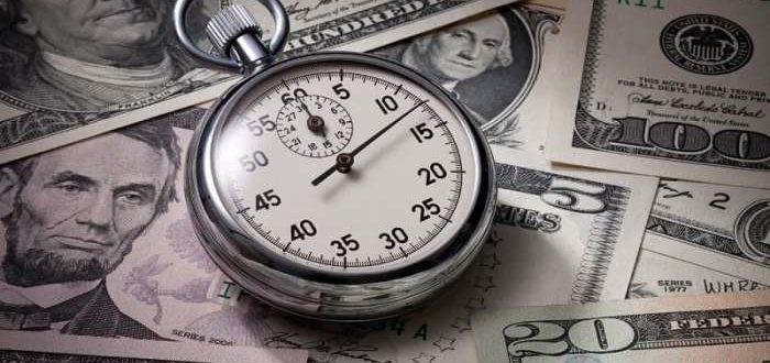Доллары, секундомер